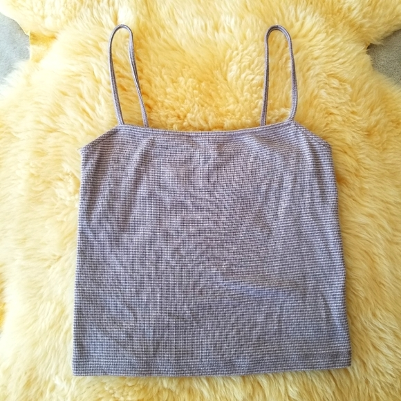 3/$30 FOREVER 21 Striped Ribbed Cropped Tank